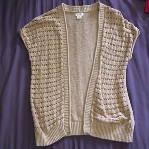 mossimo supply co brown short sleeve cardigan